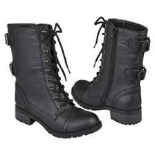 womens combat boots target supernatural version on the hunt