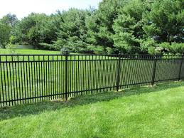 black ornamental aluminum fence with 1 5 8 spacing to contain small