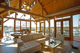Timber Frame Home Interiors Cape May Nj Timber Frame Boat House Hugh Lofting Timber Interior Decor