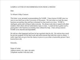 sample college recommendation 8 college recommendation letter u2013 free sample example format