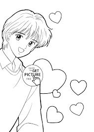 yuu marmalade boy coloring pages for kids printable free