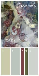 sonoma wine country wall paint color palette click for actual