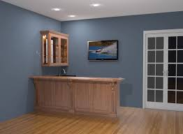 bars for home bars can be made with sunken sinks and builtin