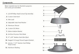 natural light 12 watt black solar attic fan with thermal switch
