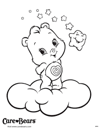 care bears coloring page throughout care bear coloring pages