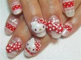 nail u2014 cute and attractive hello kitty nail art designs