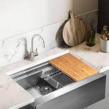 metal kitchen sink cabinet for sale akdy 33 l x 22 w farmhouse apron kitchen sink with basket