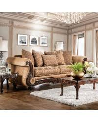 Chenille Sofa And Loveseat Bargains On Ersa Traditional Wood Trim Chenille Fabric Gold Bronze