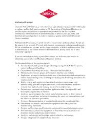 collection of solutions mechanical designer cover letter about