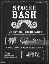 buck and doe invitations elegant bachelor party chalkboard invitation design template