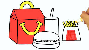 how to draw happy meal coloring pages kids learn drawing art