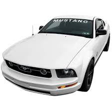 mustang windshield decal graphic express k170 wh mustang windshield 2005 2014