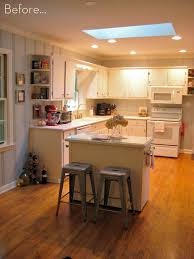 How To Build A Small Kitchen Island Before U0026 After A Diy Kitchen Island Makeover Curbly