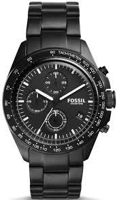 bracelet fossil steel images Men 39 s fossil sport 54 chronograph black steel tone bracelet watch gif