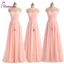 light pink dama dresses women s light pink bridesmaid dress 2018 vestido de la dama de honor