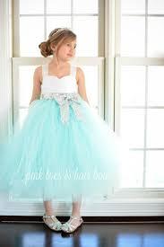 flower dress birthday dress aqua flower dress silver