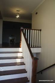 Staining Banister Stair Rails We Have Built In Utah Welcome To Apex Carpentry