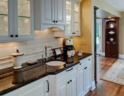 traditional backsplashes for kitchens tumbled marble backsplash kitchen traditional with arbor