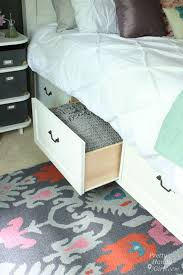 Plans For A King Size Platform Bed With Drawers by Farmhouse King Size Bed With Storage Pretty Handy
