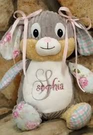 personalized easter bunnies personalized bunny stuffed animal monogrammed birth announcement