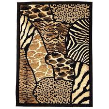 Animal Area Rug Donnieann Company Animal Skin Prints Patchwork Design Brown Area
