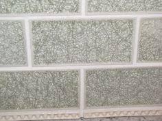 Soho Studio Baroque Crackled Series Sky X Subway Glass Tile - Crackle subway tile backsplash