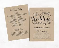 printable wedding programs templates the 25 best program template ideas on wedding program