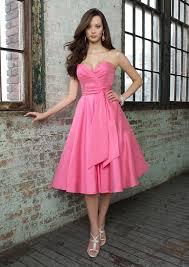 sweetheart short bubblegum a line bridesmaid dress shorts