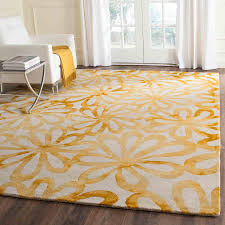 Round Yellow Rug Rug Ddy527m Dip Dye Area Rugs By Safavieh