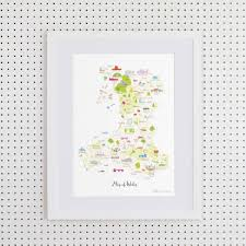 Map Of Wales Holly Francesca Map Of Wales Print Truce