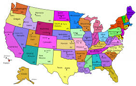 United States Fault Lines Map by Image Only United States Of America Their Abbreviations And