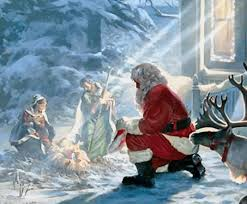 santa and baby jesus did santa claus meet jesus mystic christmas