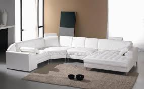 Modern Sofas Leather Monaco White Leather Sectional Sofa Gowfb Com My Future