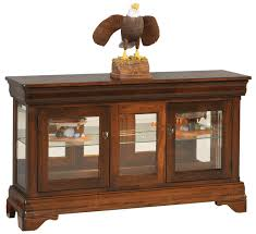 large louis philippe console curio with hidden drawer from