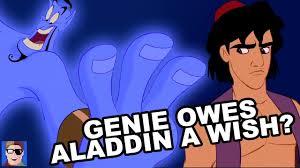 aladdin theory genie owes aladdin