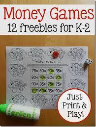 free money worksheets for kindergarten 1st grade 2nd grade