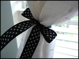 Curtains With Ribbon Ties How To Make Tiebacks For Curtains With Ribbon Savae Org