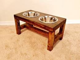 Wall Mount Pet Feeder Dog Bowl Feeder Medium Dog Feeder Farmhouse Style Rustic Dog
