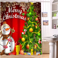 online get cheap christmas shower curtain free shipping