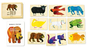 eric carle invitations small world toys eric carle brown bear puzzle tiles u0026 book set 18