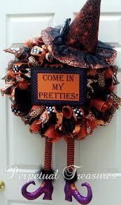 halloween deco mesh wreaths perpetual treasures