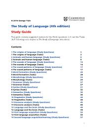 the study of language study guide syllable morphology