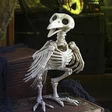 Halloween Decorations Life Size Skeleton by Indoor Outdoor Decoration Posable Crazy Bones Skeleton Raven Prop