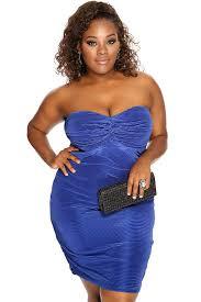 womens clothing club dresses royal blue strapless knee length