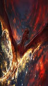 fire dragon fantasy wallpaper