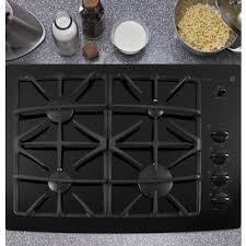 Ge Built In Gas Cooktop Ge Profile Series Black 30 Inch Built In Gas Downdraft Cooktop