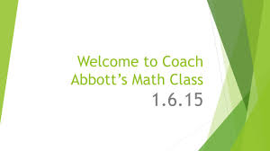 welcome to coach abbott u0027s math class tier time options u2026 get