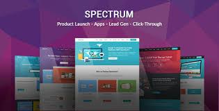 landing page templates for blogger spectrum responsive landing page template v1 2 vestathemes