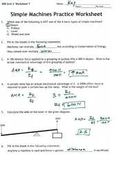 all worksheets simple machines worksheets grade 5 free