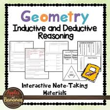 inductive and deductive reasoning interactive note taking materials